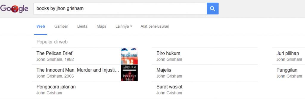 Mencari buku berdasarkan penulis
