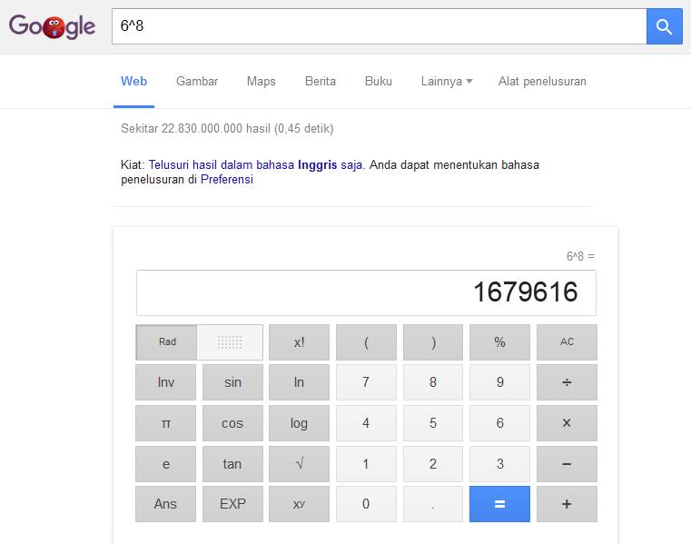 Menggunakan Kalkulator Google
