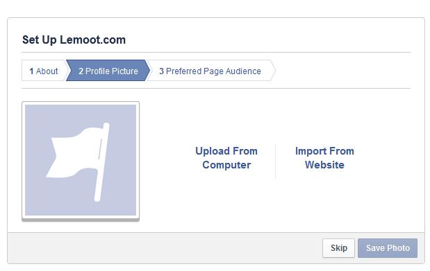Upload foto profil atau impor dari website.