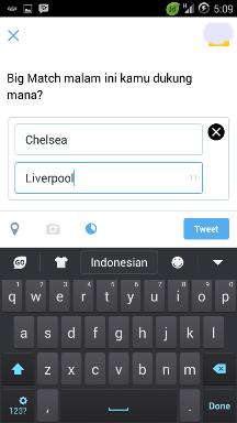 Cara membuat polling android via twitter