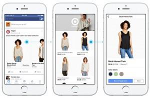 Tampilan Facebook Shopping