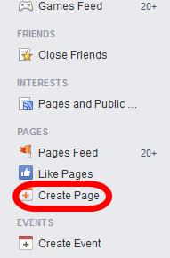 Klik Create Page