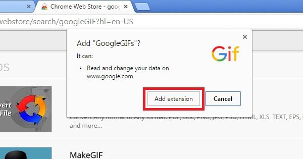 Klik Add Extension