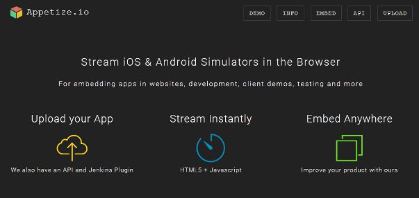 appetize io iOS emulator for windows