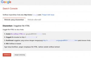cara verifikasi search console_lemoot