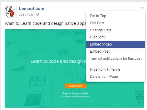 Cara embed video facebook ke blogger