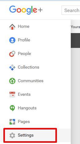 Klik menu Settings