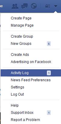 Klik Activity Log