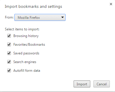 import chrome bookmark