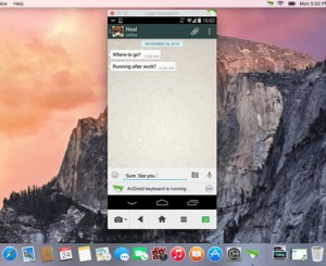 Airdroid WhatsApp di PC