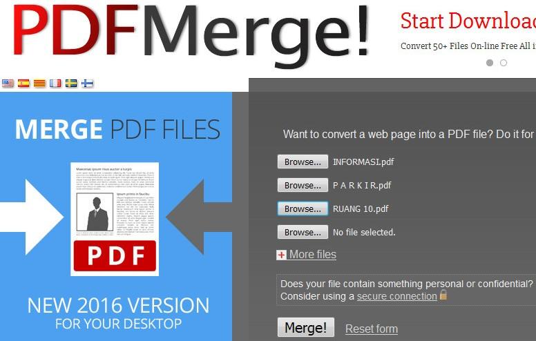 pdf merge com cara menggabungkan banyak file pdf