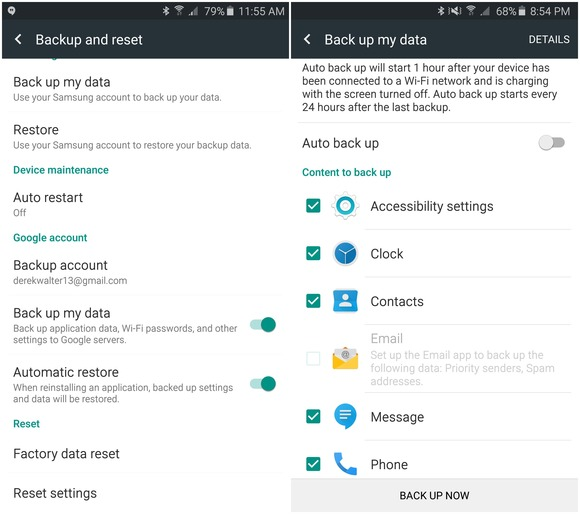 backup data android lama ke baru