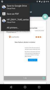 cara print langsung dari android