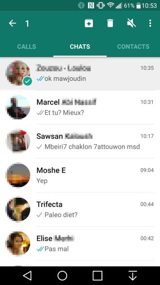 whatsapp multiple selection