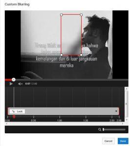 custom blurring youtube