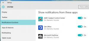 notifikasi windows 10