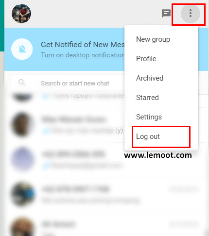 logout whatsapp web, whatsapp web, cara menggunakan whatsapp web