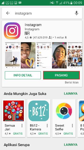 Menginstal Ulang Aplikasi Instagram