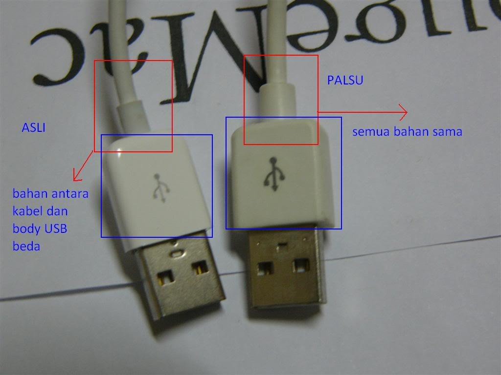 Perhatikan Kabel USB