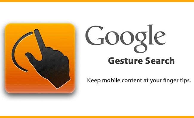Aplikasi Google Gesture Search