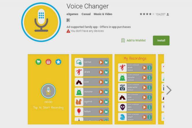 Aplikasi Voice Changer (e3games)