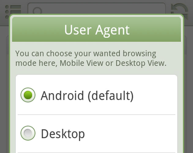 Aturlah User Agent
