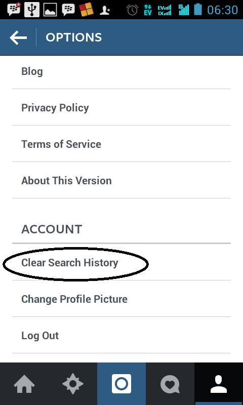 Hapus Sejarah Pencarian (Search History)