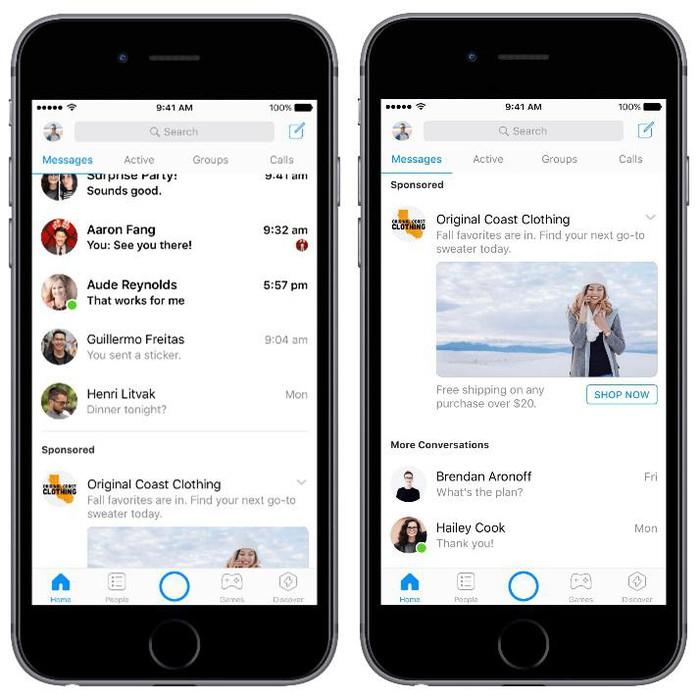 Siap-Siap ! Facebook Messenger Akan Segera Terdapat Banyak Iklan