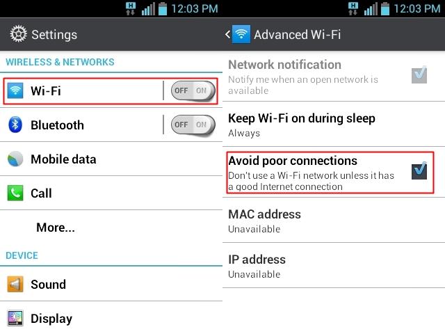 Ubah pengaturan WiFi