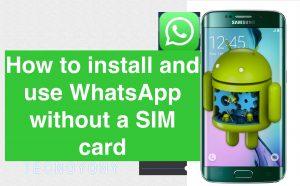 Instal WhatsApp Dan Verifikasi Dengan Nomor Darurat :
