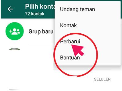 perbarui kontak whatsapp, whatsapp