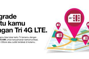 Cara Mudah Upgrade Kartu Three 3G ke 4G Terbaru