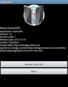 Dengan aplikasi Active GPS