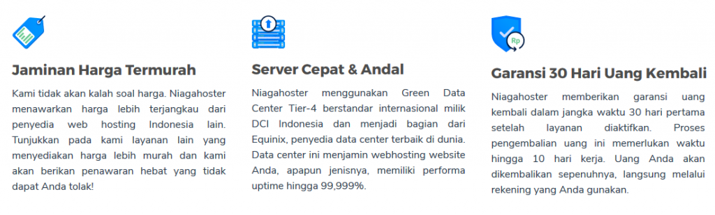 jaminan web hosting niagahoster