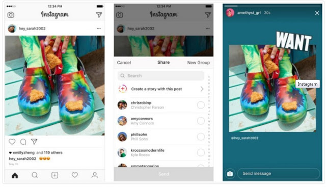 Kini Pengguna Instagram Bisa Membagikan Postingan Ke Stories