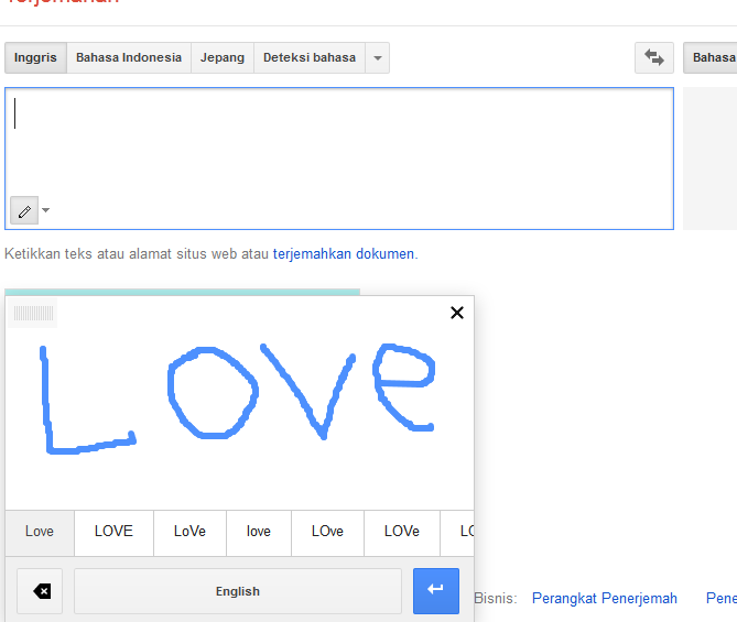 Input Handwriting Google Translate