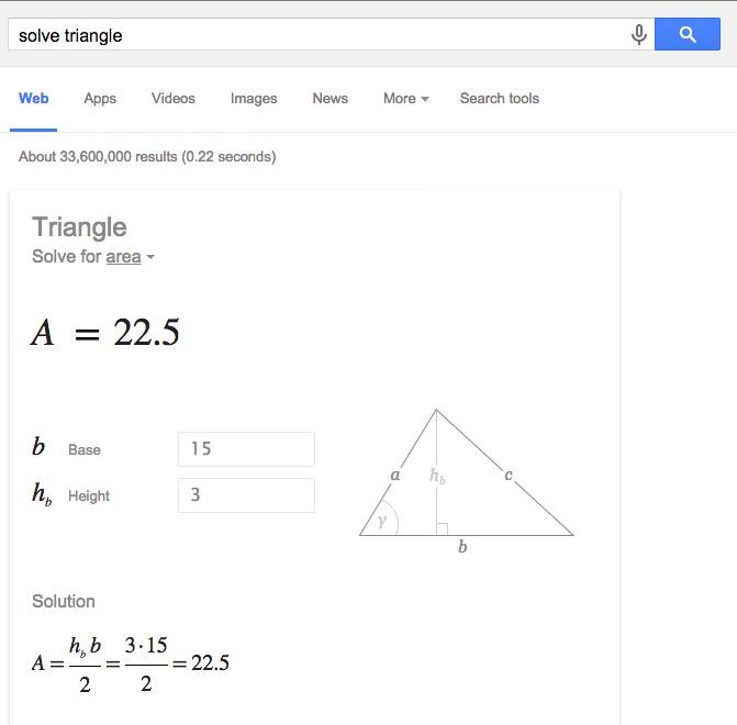 Menghitung luas segitiga