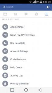 Pilih App Settings