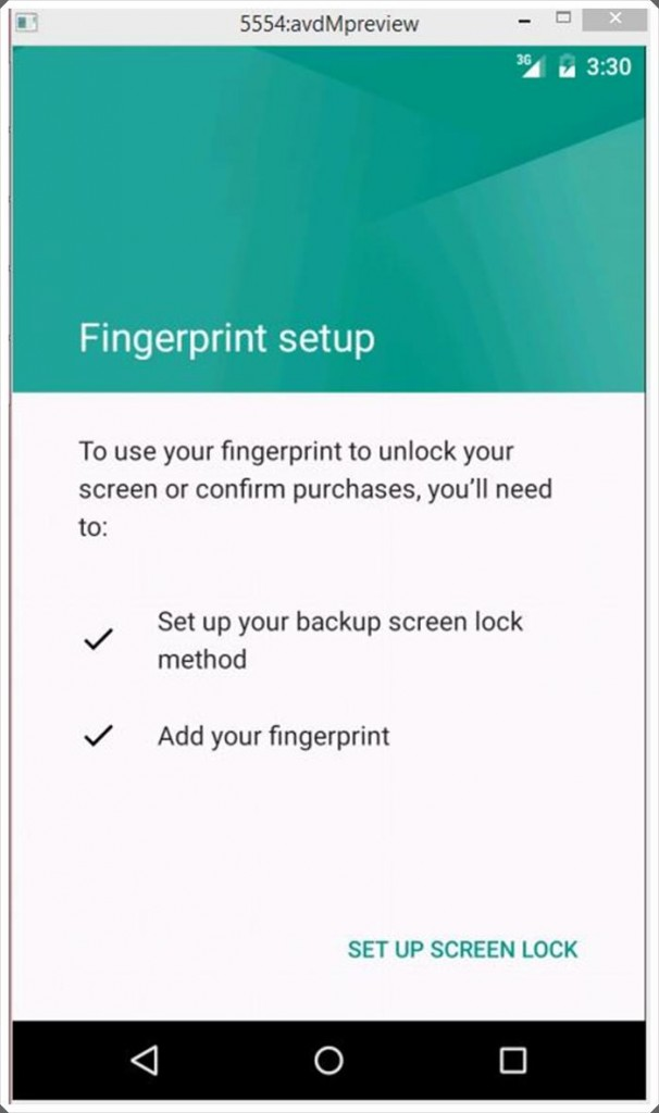 Fingerprint Android M via Hongkiat.com