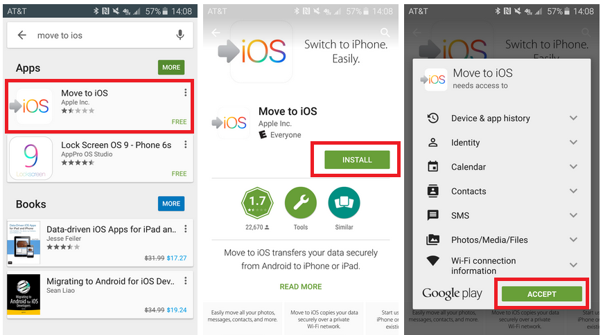 install move to app