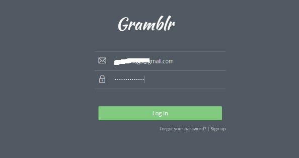 Login akun Gramblr