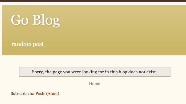 Tampilan default 404 blogger