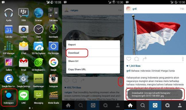 instwogram menggunakan 2 akun instagram pada 1 hp bisa download