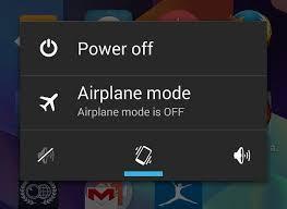 matikan ponsel atau airplane mode