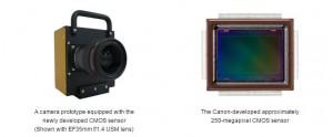 sensor-kamera canon -250mp-