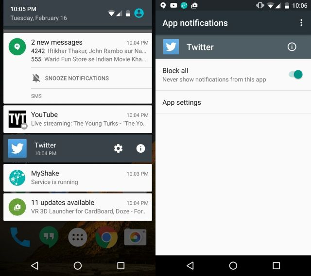 cara blokir notifikasi dari aplikasi android