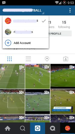 switch account instagram