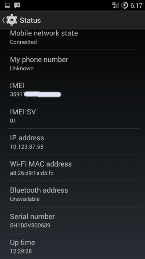 melihat imei android dari pengaturan settings