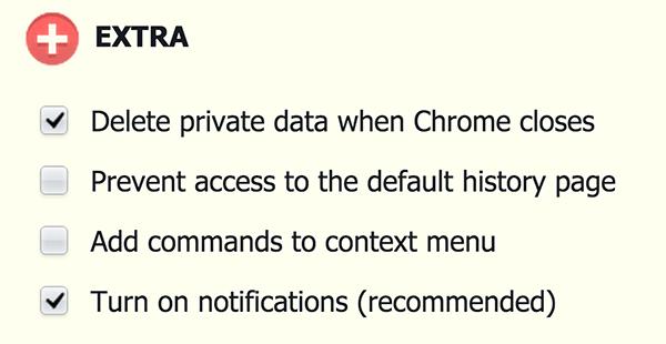 otomatis hapus cache history google chrome