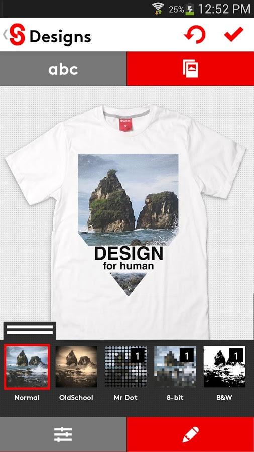 Aplikasi T-Shirt Design Snaptee